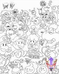 cubicle drawing 09 paper mario picnic dragoonmyuutsu