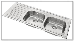 Peter Evans Sink by Double Kitchen Sink With Drainer Free Neelkanth Alexender Glossy
