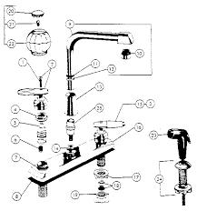 kitchen faucet parts diagram faucets peerless kitchen faucet parts model 8300 sears for