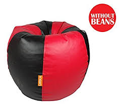 orka xl bean bag cover red and black with out beans amazon in