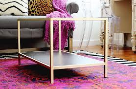 gold side table ikea easy diy project diy coffee table easy ikea hack