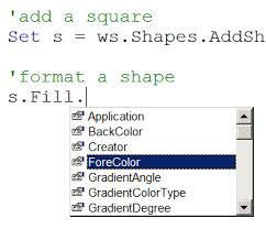 formatting shapes and adding text