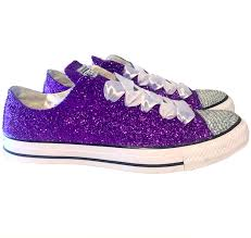 wedding shoes converse sparkly purple glitter converse all purple wedding