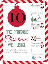 free printable christmas wish lists thrifty nifty mommy