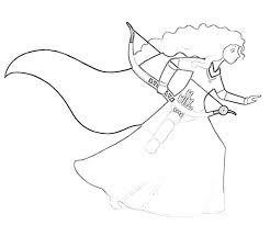 Disney Pixar Brave Merida Sketch Surfing Disney Brave Coloring Pages