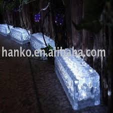 low voltage led rectangle iced glass brick light 20x6x5cm