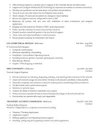 Technical Support Resume Template Customer Support Engineer Sle Resume