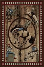 Cowboy Area Rugs 5x8 Western Texas Star Lodge Cabin Cowboy Boots Horse Area Rug Ebay