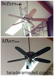 spray paint ceiling fan paint your ceiling fan without removing it from the ceiling hometalk