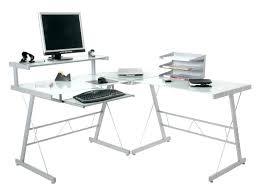 Black Glass L Shaped Computer Desk Metal And Glass Computer Desks Glass Office Desk Ideas Using