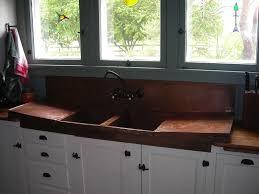 kitchen design ideas smooth copper retrofit farmhouse sink top