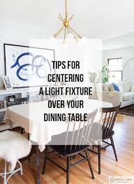 dining table center how to center a light fixture using a ceiling medallion francois