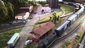 n scale model train layout