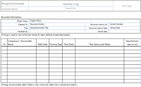 Quality Assurance Excel Template Quality Templates Project Management Templates