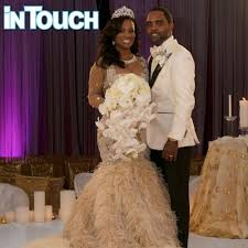 coming to america wedding dress one on one details on kandi burruss s wedding gown from designer