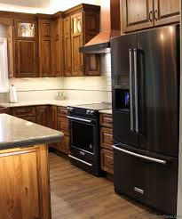 what color cabinets match black stainless steel appliances black stainless steel appliances with oak cabinets page 1