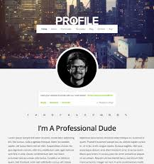 Resume Profile Template Profile Theme Beautiful Responsive Wordpress Themes Organic