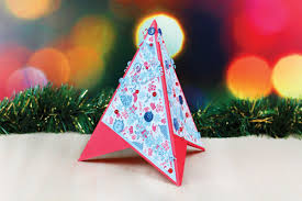 die cut christmas tree pyramid card hobbycraft blog