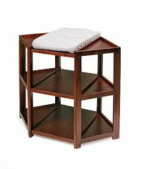 Cherry Wood Baby Changing Table Badger Basket Corner Changing Table Cherry
