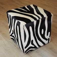 Zebra Chair And Ottoman Furniture Cube Zebra Ottoman Design Ideas Decorative Zebra