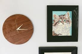 diy modern wood wall clock
