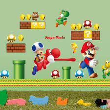 popular boys super mario buy cheap boys super mario lots from newest super mario cartoon game home decal wall sticker funny boys girls love kids room