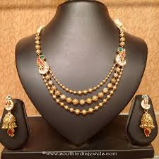 antique necklace set images Light weight gold antique necklace set south india jewels jpg