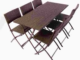 Mainstays Searcy Lane 6 Piece Padded Folding Patio Dining Set - patio 26 folding patio table patio tables resin round resin
