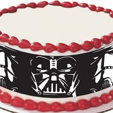 wars edible image wars darth vader and stormtrooper edible image cake