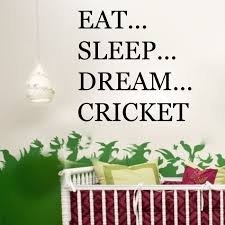 Wall Quotes For Bedroom by Eat Sleep Dream Cricket Sports Player Bedroom Mens Boys Wall