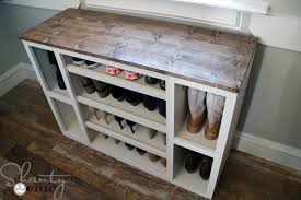 Free Plans To Build A Storage Bench by Diy Shoe Storage Cabinet Shanty 2 Chic