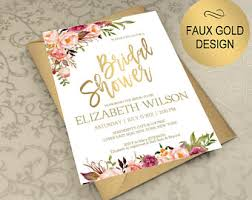wedding shower bridal shower invite etsy