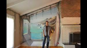 Surf Mural by Time Lapse Painting Faux Surf Mural By Artist Lee Bivens Atlanta