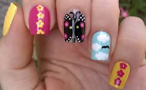 life world women five easy summer nail art designs using dotting