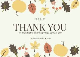leaves and fruits thanksgiving card template template fotojet