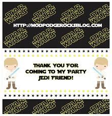 star wars birthday party free printable pack mod podge rocks