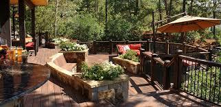 Rustic Patio Designs by Exterior Design Cozy Patio Design With Evergrain Decking Plus