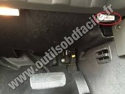 obd2 connector location in nissan navara frontier d40 2004 2010