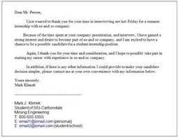 thank you letter college interview example of layoff letter