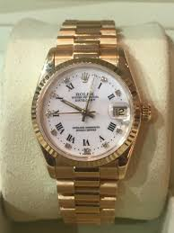 gold rolex oyster bracelet images Sold rolex datejust 68278 ladies 18ct yellow gold 30mm case size JPG
