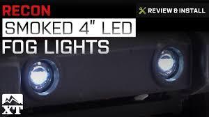 Jk Led Fog Lights Jeep Wrangler Recon Smoked 4