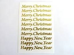 Happy New Year Decoration Games by Merry Christmas And Happy New Year Stickers Xmas Labels For Craft