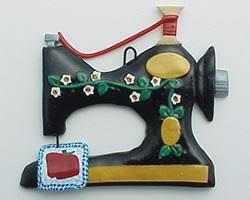 personalized seamstress sewing machine ornament ornament