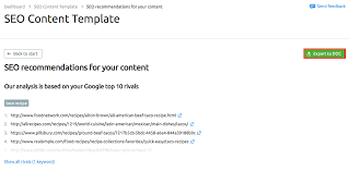 seo templates for content in one click semrush