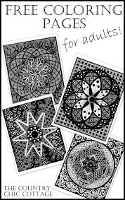 free coloring pages for adults the country chic cottage
