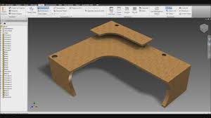 autodesk inventor large computer desk youtube