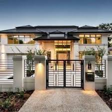perth metal gate designs exterior contemporary with black roof