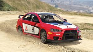 lancer evo red mitsubishi lancer evo x fq 400 rally livery gta5 mods com