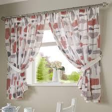 Kitchen Curtains Uk by Bistro Pencil Pleat Kitchen Curtains Red U2013 Pasx Uk