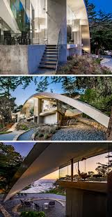 this sculptural house combines stainless steel concrete and